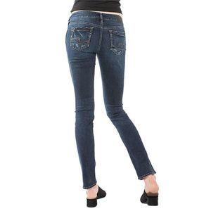Silver Jeans ELYSE MID RISE STRAIGHT LEG JEANS 33